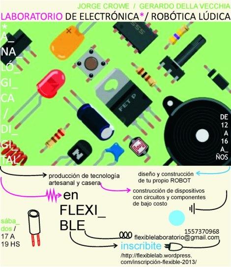 Taller de Electrónica para chicos en Flexible!